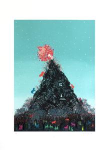 "Stephanie Mercado, Untitled, 2013 serigraph, Ed. 50 30 x 22"" published by the Serie Print Project XX, Coronado Studio"