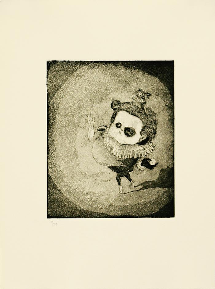 """Stephanie Mercado, Mano Negra, 2007 aquatint etching, ed 25 15 x 11"""""""