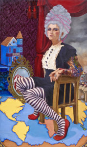 "Stephanie Mercado, Untitled, 2009, Portrait, oil on canvas, 60 x 36"""