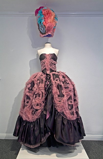 "Stephanie Mercado, Dia de los Muertos Wearable Altar, 2009, 72 x 36 x 12"", Textile Art, Fabric Sculpture"