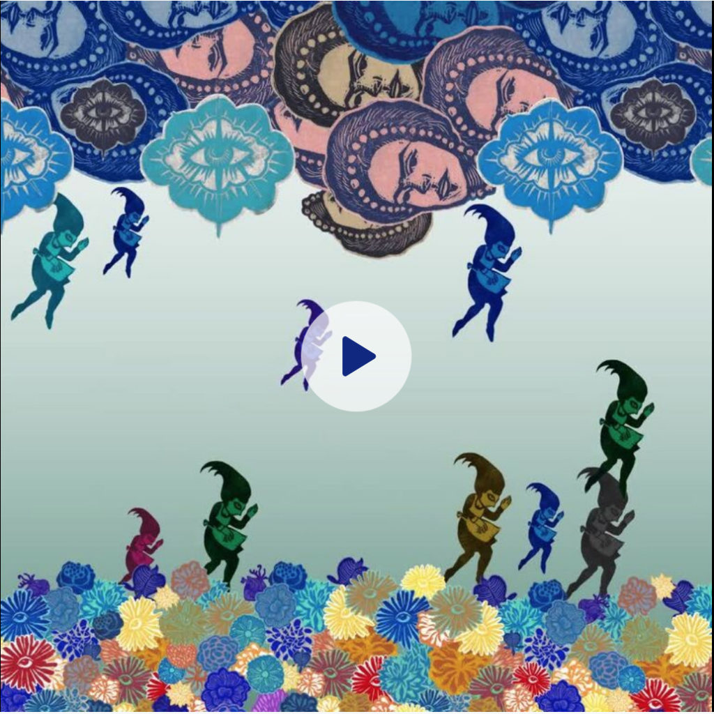 drained video maids raining frida kahlo clouds flower beds paper art