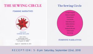 "The Sewing Circle at Seaver Gallery, from 5 - 8 pm. The exhibition features new work by ten artists in Los Angeles. The artists included in the show are Lavialle Campbell, Rebecca Campbell, Phung Huynh, Laura Krifka, Tidawhitney Lek, Siobhan McClure, Stephanie Mercado, Andrea Patrie and Kate Savage. Stephanie Mercado will have three new monoprints included in the exhibition. The monoprints are constructed using relief and linocut prints hand-printed on Thai and Japanese paper. Each element is individually incised and collaged together to create innovative narratives. Stephanie Mercado's paintings and prints examine and interpret how history is recorded. She merges historical imagery with contemporary pop-culture, transforming the narrative by introducing gaudy gold chains and cartoonish dollar bills. These contemporary elements reveal how the power of images has influenced American culture, fostering the proverbial ""American Dream"". Mercado's recent portraits of maids tell a story about power, class, and human relationships. They explore themes of subjugation and the nuances by which people try to maintain their identity, dignity, and independence. Their black and white uniforms define a role that depersonalizes them but elements in their environment reflect individuality and an exploration of identity. Each figure is caught in a place between reality and a world that is deformed and shaped by the people who control their environment and their livelihood."