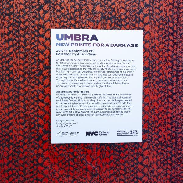IPCNY Umbra, New Prints for a Dark Age